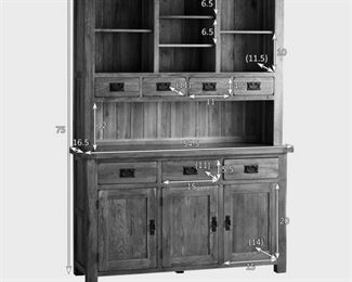 Oak Furniture Land hutch, currently retailing new for $1100 in like new condition