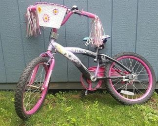 "Girls 18"" Tinkerbell bike"