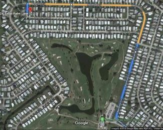 Keep right by the golf course. Barefoot Bay Blvd becomes Barefoot Bay Circle. Continue on Barefoot Bay Circle around until you reach Sabal Palm Lane. Turn left and the sale will be located on your left.