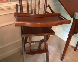 antique deathtrap of a highchair