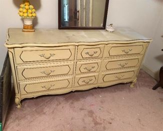dresser with 6 primary drawers and 3 runner-up drawers