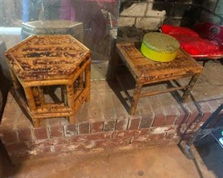 bamboo end tables or small thrones for small gods