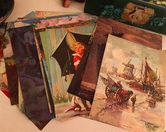 Vintage prints (is that the Morton's salt girl?)