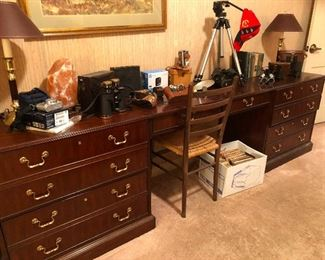 Nice desk sporting Phileas Fogg's travel gear