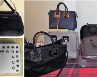Purses: casual to evening.  3 Louis Vuitton Epi bags plus accessories.  Michael Kors, Vince Camuto, Coach, Cole Haan and more