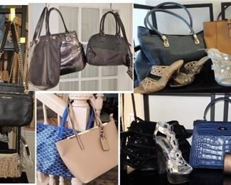 Purses: casual to evening.  Vince Camuto, Coach, Cole Haan and more