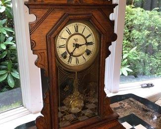 Vintage gingerbread grandmother clock