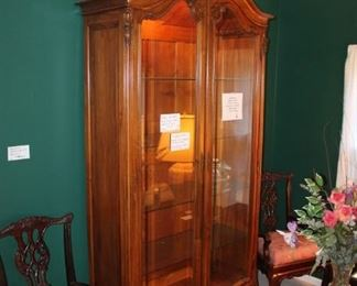Antique French cabinet w/ glass doors