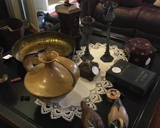 beautiful pottery, duck decoys, candlesticks