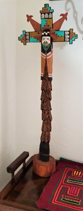 Unique wooden handcarved Native American kachina.