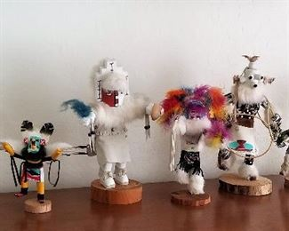 Lots of handcarved Kachinas.