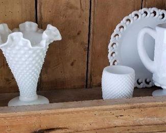 Milk Glass pieces.