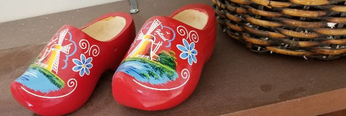 From one of the owners trips red wooden shoes made in Holland.