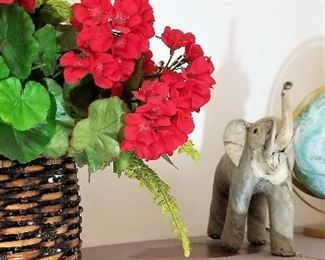Elephants and Globes and Florals, Oh MY! Did you know that when an elephant's trunk is pointed upwards that means GOOD LUCK?