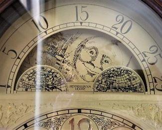 Grandfather clock in pristine condition.