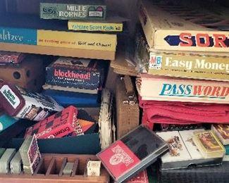 Vintage games for sale too.