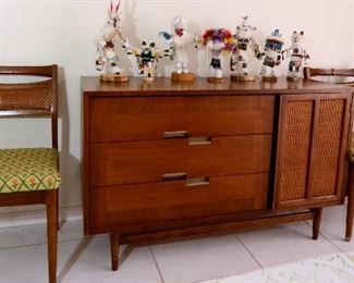 Mid-century modern sideboard and chairs.