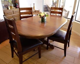 Oval Kitchen/Dining solid wood table and chairs.