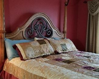 Beautiful King 4 poster bed for sale.