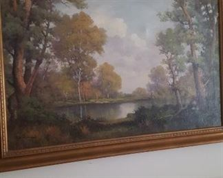 Large Robert W. Wood original oil on canvas landscape