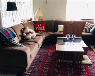 Microfiber sectional sofa Buy it now $700