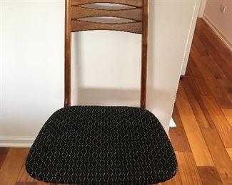 R Huber Niels Koefeds  Hornslet style Scandinavian Design Mid Century Modern teak Bow Tie Ladderback set of 6 dining Chairs no markings Buy it Now $2400