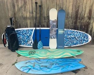 SUP and Surf and Ski and Golf