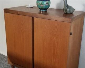 Hans Olsen Beech & Walnut cabinet (Denmark) $700