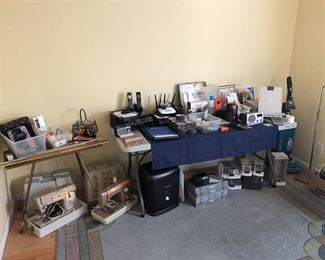Office Items, printer, phones, 2 portable sewing machines.....