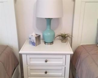 twin beds $225.00 each night stand $75.00