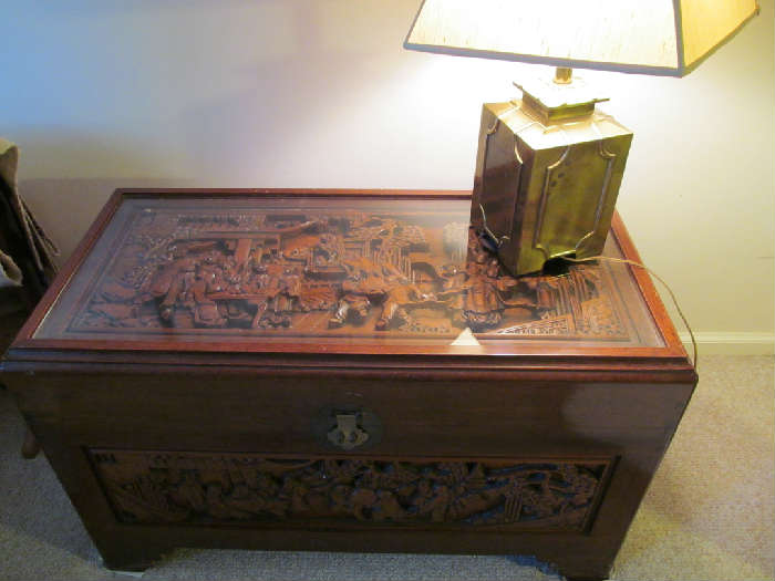 Hand Carved Chinese Trunk