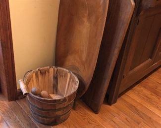 Cedar bucket, dough bowl