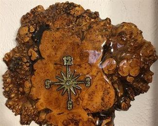 Walnut Burl Clock