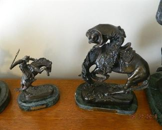 CM Russell and Frederick Remington bronze art