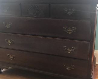 Dresser with full size bed and nightstand