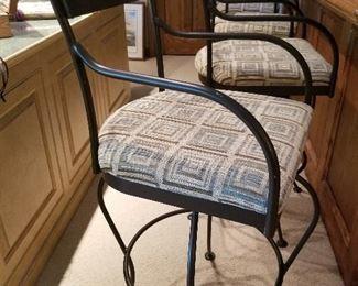 4 Wrought Iron bar stools