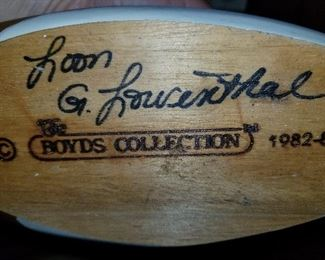 Loon, Boyd Collection, Signed by G. Lourenthal