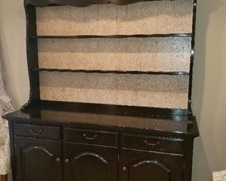 Large Cabinet w/ Hutch on top