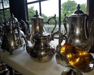 Silver plate collection, Coffee pots, Teapots