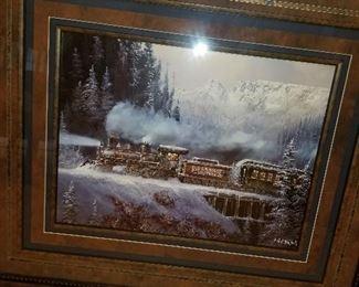 Framed Train art