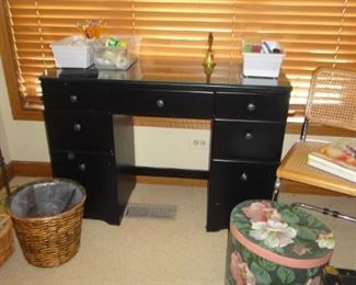 Desk, matching chest of drawers , art and craft supplies