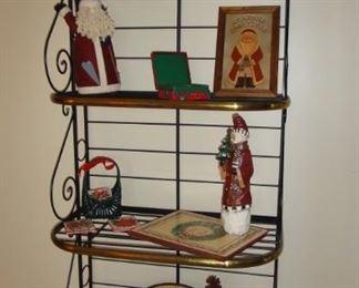 Bakers Rack, Christmas Decor