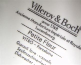 """large Set, Villeroy & Boch, """"Petite Fleur"""""""