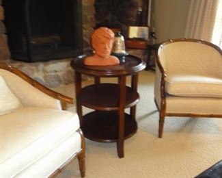 Occasional Chairs, side table