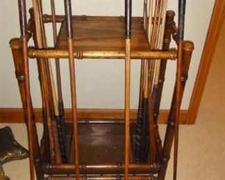 Vintage Wood handle golf clubs