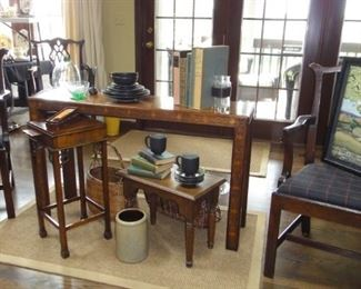 6 Matching Dining Room Chairs, Miss matched tables,