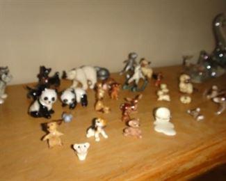 Small miniature animals.