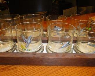 Barware, Duck Glasses with locking tray