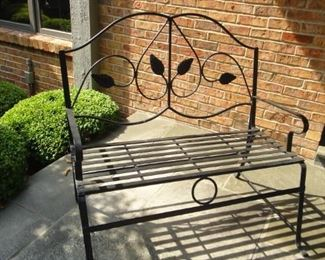 Wrought Iron Metal Bench