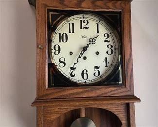 Trend wall clock by Sligh, movement by Howard Miller clock company. Model 752-574